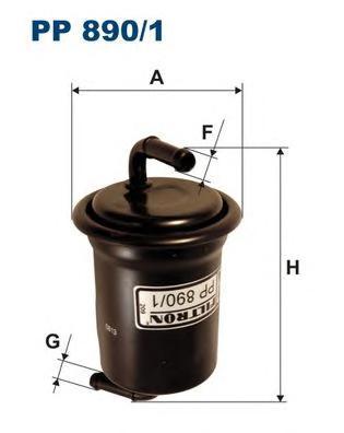 PP8901 Фильтр топливный MAZDA 626 1.6-2.0 97-02