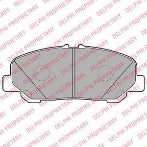 LP2119 Колодки тормозные TOYOTA ALPHARD 08-/ESTIMA/PREVIA 06- передние