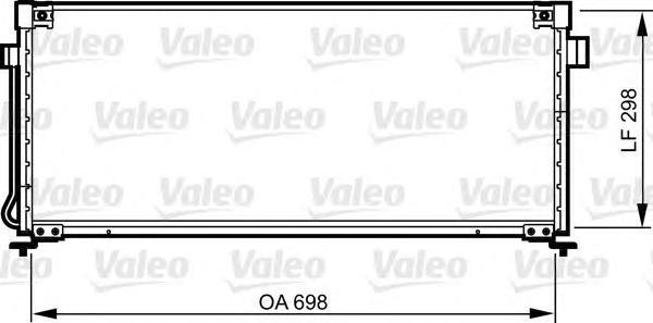 814259 Конденсор кондиционера SUBARU Legacy II 2.0,2.2