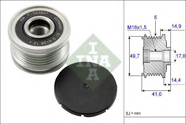 535010110 Муфта свободного хода MB W169 CDI
