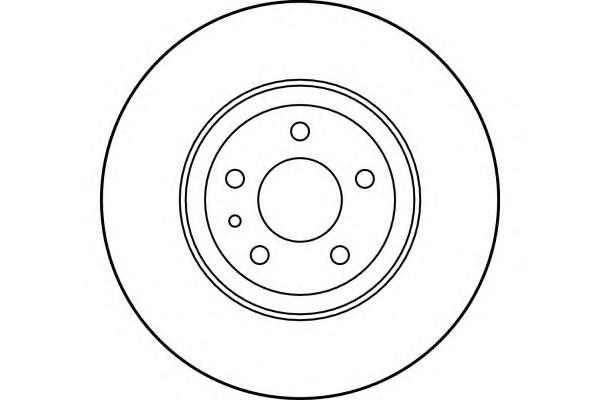 6017491 Диск тормозной ALFA ROMEO 147 01-/156 97-06/FIAT DOBLO 10- передний