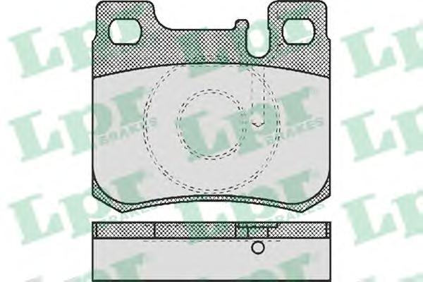 05P485 Колодки тормозные MERCEDES W201/202/124/126 задние под датч.