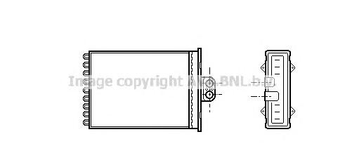 OL6217 Радиатор отопителя OPEL VECTRA / SAAB 9-5 1.6-2.6/2.0T-2.3T 96-
