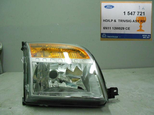 1547721 Фара правая (желтый поворотник) / FORD Fusion 02~