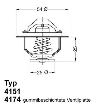 417482D Термостат (с прокладкой) CITROEN: JUMPER 94-02, JUMPER 02-  FIAT: DUCATO 94-02, DUCATO 02-  IVECO: Daily II 99-  PEUGEOT