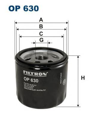OP630 Фильтр масляный OPEL ASTRA 1.7TD 94-00