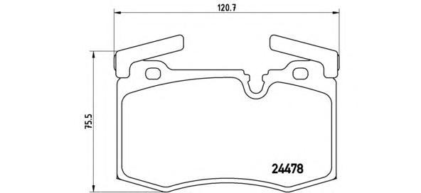 P06068 Колодки тормозные MINI COOPER/ONE 07- передние