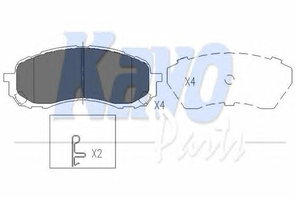 KBP8018 Колодки тормозные SUBARU IMPREZA 00- передние