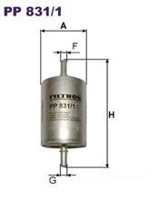 PP8311 Фильтр топливный PEUGEOT/RENAULT/SMART/FIAT/CITROEN