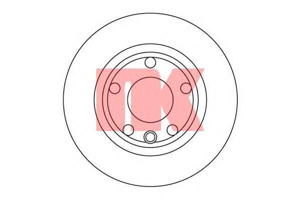 204732 Диск тормозной передний / VW Transporter T-4 R-14 ( 16-260 ) 90-96