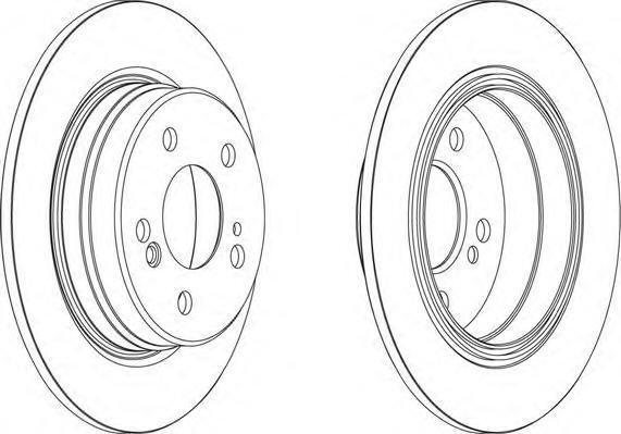 DDF224 Диск тормозной MERCEDES W202/W203/W124/W210/R170/R171 задний D=278мм.