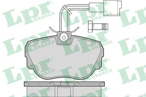 05P1079 Колодки тормозные BMW E30 1.6-2.5 82-93 передние