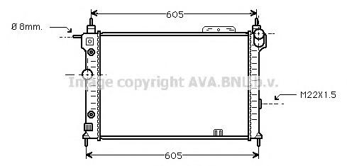 OLA2029 Радиатор OPEL ASTRA F 1.4-2.0 91-01