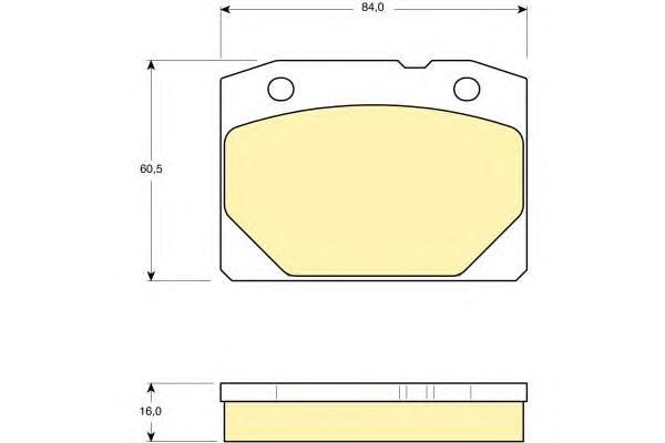 6101403 Колодки тормозные ВАЗ 2101-07 передние