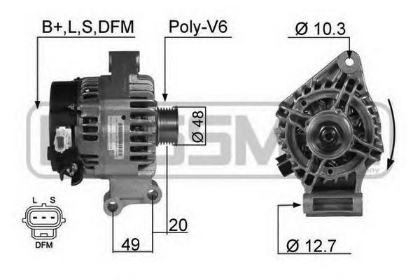 210357 Генератор FORD FOCUS -04/C-MAX -07 1.4/1.6 105A