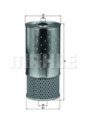 OX78D Фильтр масляный MB W123/W126/W460/T1/T2 2.0D-2.9D