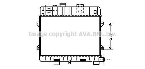 BW2031 Радиатор BMW E28/E30 1.6-1.8 82-91