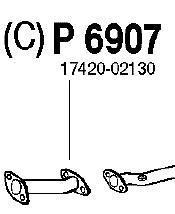 P6907 Трубопровод выпускной TOYOTA AVENSIS 1.6 97-00