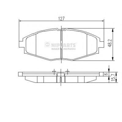 J3600909 Колодки тормозные DAEWOO NEXIA/LANOS/MATIZ SOHC передние