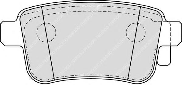 FDB4186 Колодки тормозные RENAULT KANGOO 08- задние