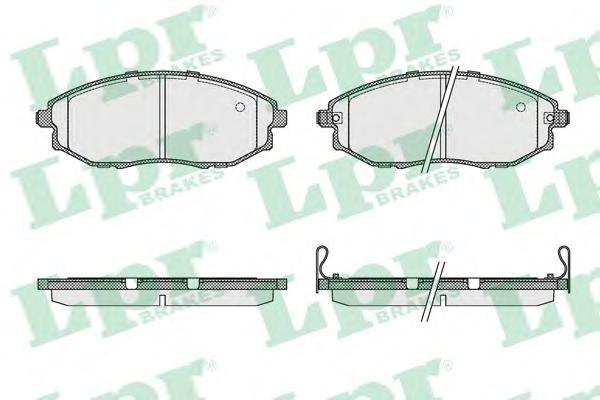05P1321 Колодки тормозные CHEVROLET EPICA 07- передние
