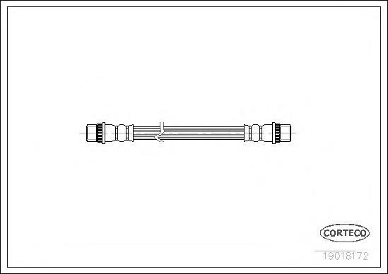 19018172 Шланг тормозной RENAULT: 11 1.1/1.2/1.4/1.4/1.4/1.4 Turbo/1.6 D/1.7/1.7/1.7/1.7/1.7/1.7 83-89, 9 1.1/1.2/1.4/1.4/1.4/1.