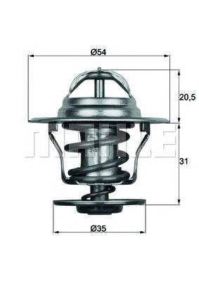 TX1587D Термостат VAG 80/GOLF/PASSAT/T3 / FELICIA 1.9D 93-99