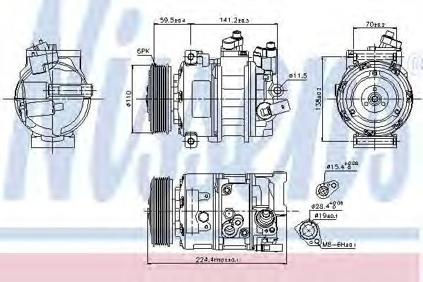 89020 Компрессор кондиционера AUDI/VW/SKODA