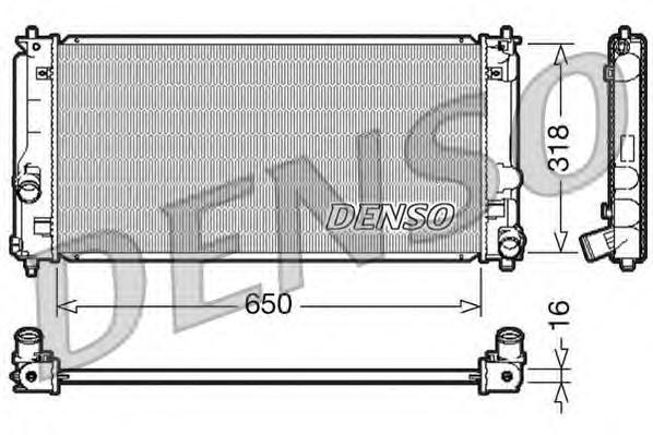 DRM50044 Радиатор системы охлаждения TOYOTA: CELICA 1.6 16V