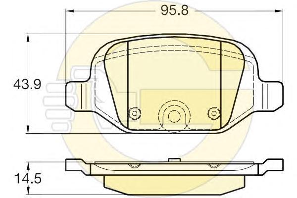 6119811 Колодки тормозные CITROEN NEMO/FIAT FIORINO/PANDA 04-/PEUGEOT BIPPER задние
