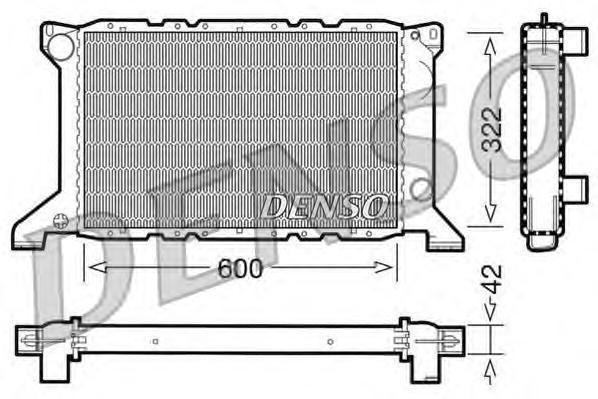 DRM10098 Радиатор системы охлаждения FORD: TRANSIT TOURNEO 2.5 DI 94 - 00 , TRANSIT c бортовой платформой/ходовая часть (E ) 2.5