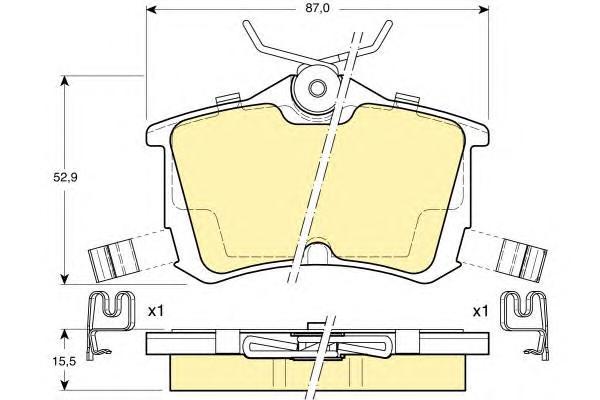 6131901 Колодки тормозные HONDA ACCORD 2.0/2.2/2.4 98 задние
