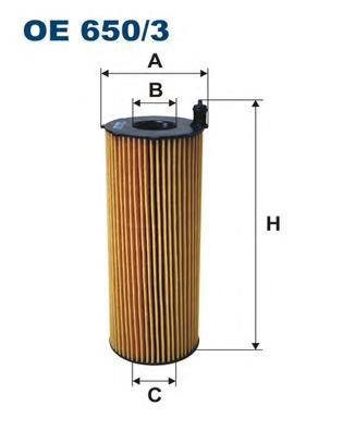 OE6503 Фильтр масляный AUDI A6 3.0TDI/A8 4.0TDI