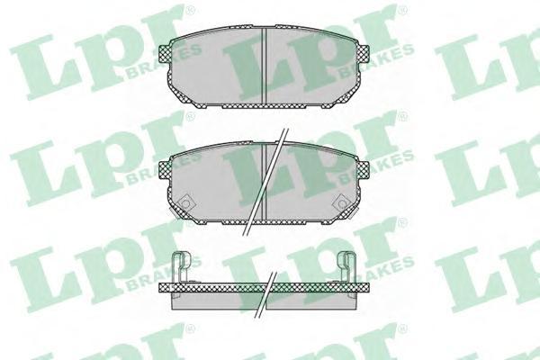 05P1370 Колодки тормозные KIA SORENTO (JC) 2.4-3.5 02- задние