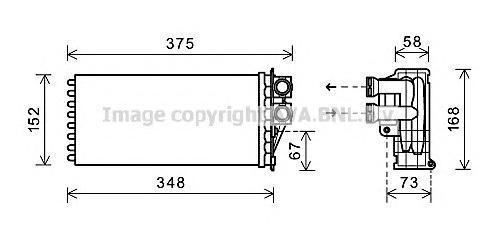 PE6359 Радиатор отопителя PEUGEOT: 3008 1.6 HDI/1.6 THP/1.6 VTI/2.0 HDI 09-, 5008 1.6 16V/1.6 HDI/2.0 HDI 09-