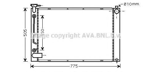 TO2343 Радиатор LEXUS RX 330 3.3 03-07
