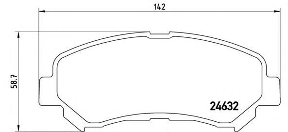 P56062 Колодки тормозные NISSAN QASHQAI 1.6/2.0 07-/X-TRAIL 07- передние
