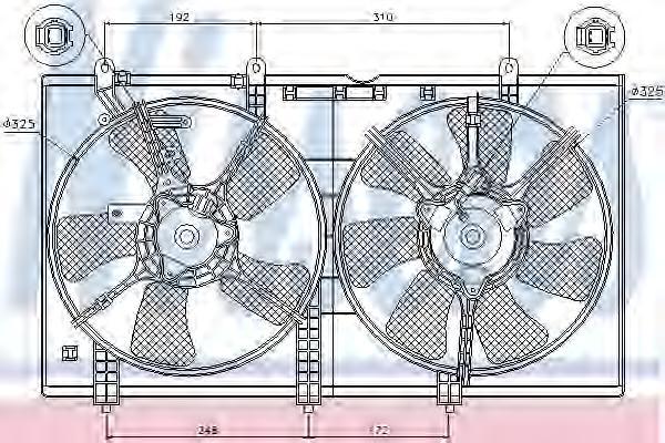 85636 Вентилятор радиатора MITSUBISHI LANCER 1.3/1.6 03-