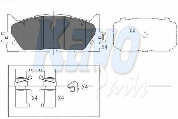 KBP9087 Колодки тормозные TOYOTA CAMRY (V40) 06-/LEXUS ES 240/350 06- передние