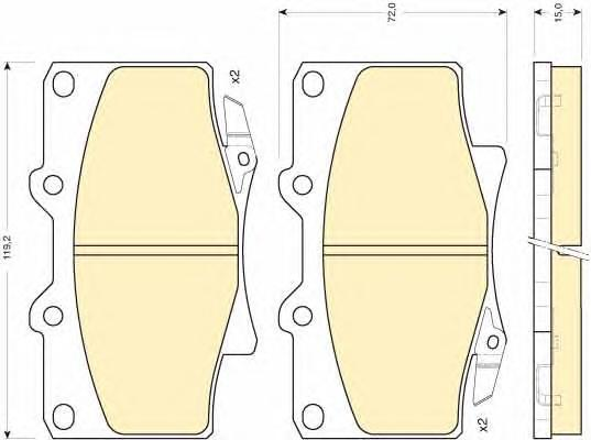 6111549 Колодки тормозные TOYOTA LAND CRUISER 87-97 передние