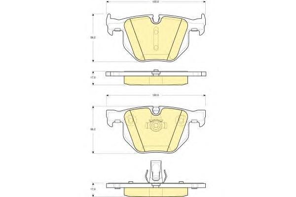 6115602 Колодки тормозные BMW E90/E91/E84 задние