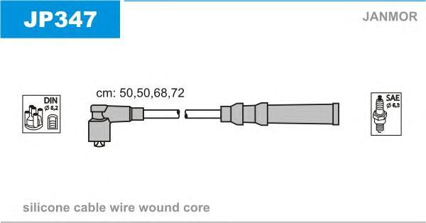 JP347 Комплект проводов зажигания MAZDA: 121 II 90-96