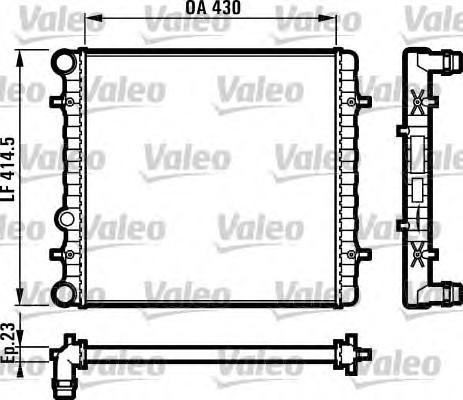 731607 Радиатор системы охлаждения SEAT: LEON (1M1) 1.4 16V/1.9 TDI 99-06, TOLEDO II (1M2) 1.4 16V 99-06SKODA: OCTAVIA (1U2) 1.4