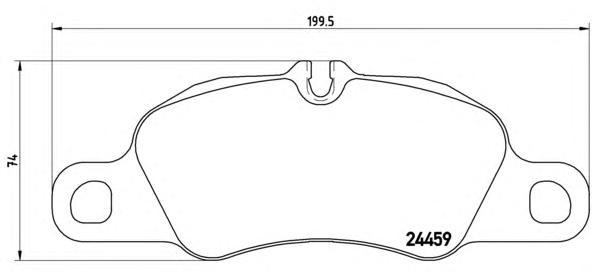 P65018 К-т торм. колодок Fr Porsche 911 3.6 08-