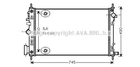 OLA2470 Радиатор OPEL INSIGNIA 2.0T A/T 08-