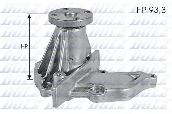 F133 Насос водяной FORD Fiesta 96 (FAJ/FBJ) 1.2i 16v Zetec-S 09/95-, Focus 1.4i/1.6i 16v 98-, MAZDA 121 1.25i 16v 01/96-