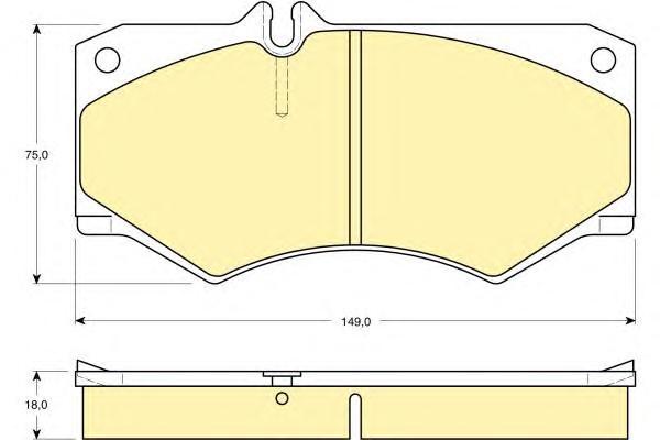 6103179 Колодки тормозные MERCEDES W460-W463/IVECO DAILY передние без датчика