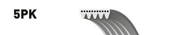 5PK1850 Ремень поликлиновой BMW 525tds/725tds (E39/E38) 2.5TD 96-04