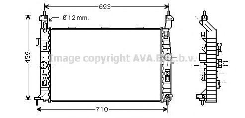 OL2345 Радиатор OPEL MERIVA 1.4-1.8 03-
