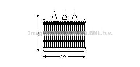BWA6271 Радиатор отопителя BMW 7 3.0-6.0/3.0D-4.5D 01-